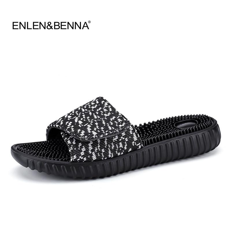 New 2018 Summer Slippers Men Casual Sandals Leisure Soft Slides Massage Beach Sandals Sandalias Hombre Men's Shoes Flip Flops