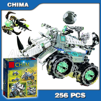 256pcs Rogon's Rock Catapult Flinger Weapon Globos Robot Striker Sparacon Vehicle Model Building Blocks Toy Compatible With
