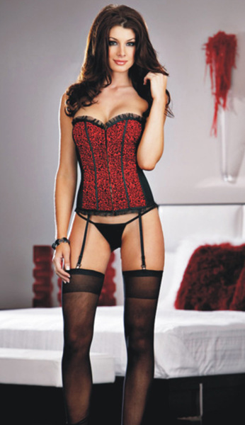 Corselet Sexy Women Corsets And Bustiers Bbw Corset Full Reverisble Corset H8110