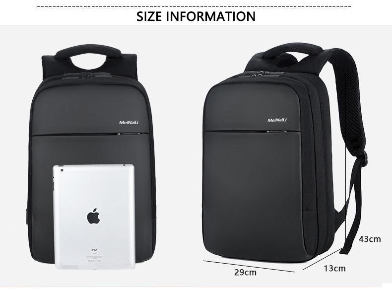 HTB1M2cQXULrK1Rjy1zbq6AenFXar - Mens 15.6 inch Laptop Business Backpacks Waterproof Male Travel