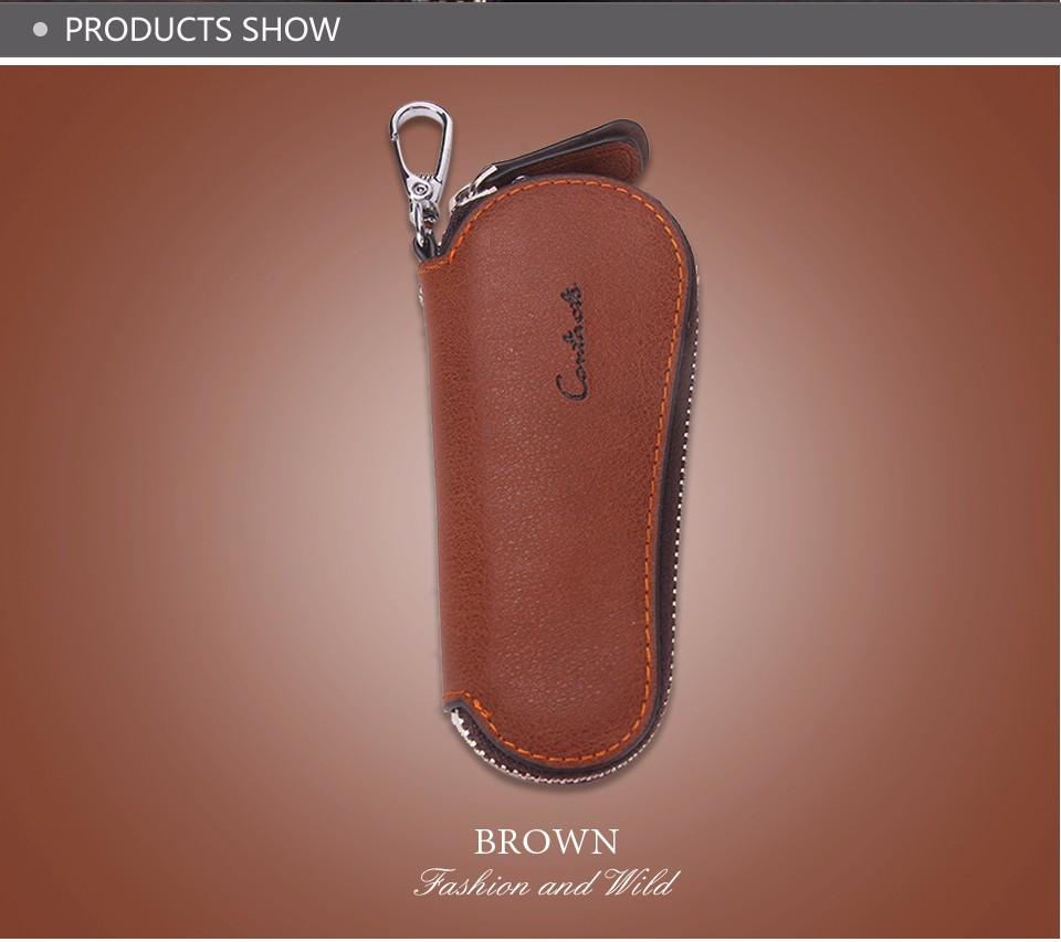 محفظة مفاتيح للرجال من الجلد الطبيعي 11