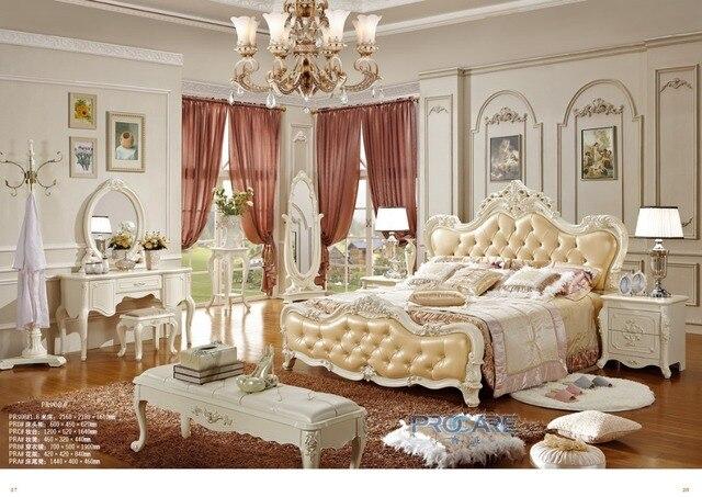 Europäischen royal style massivholz hand geschnitzt schlafzimmer set ...
