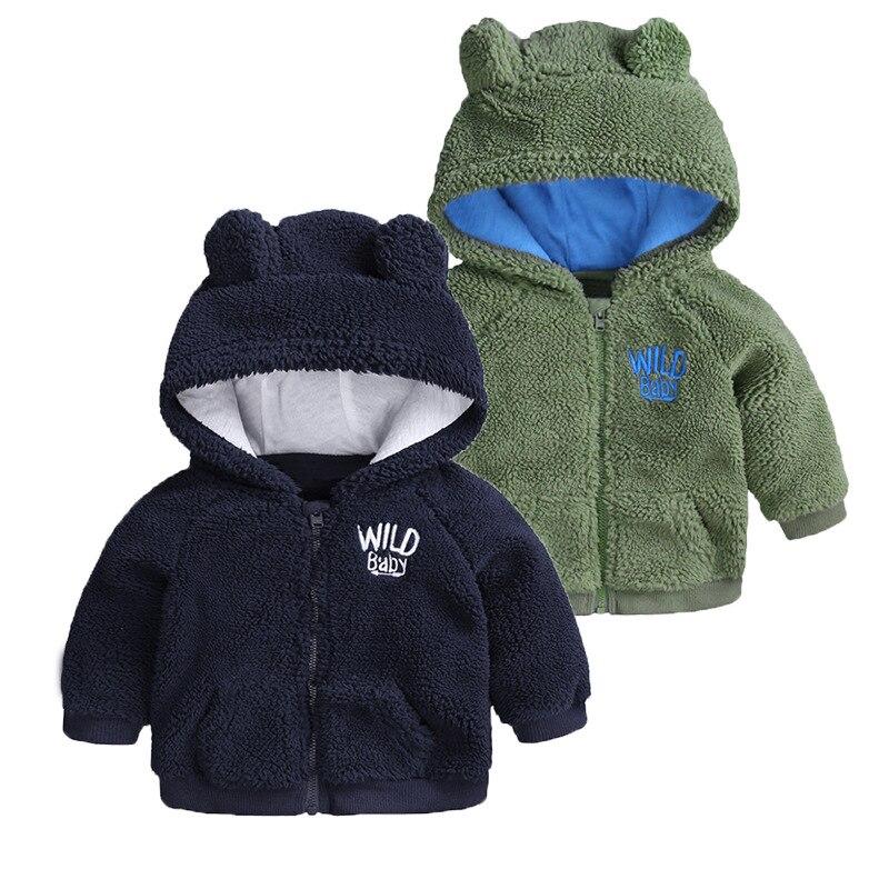 2019 Neue Stil Winter Hoodies Kinder Mantel Kaschmir Baby Mädchen Oberbekleidung Hoodies Infant Kleidung Warme Jacken Quell Sommer Durst