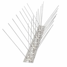 Pigeon Spike Stainless Steel Bird Spikes, Anti & Seagulls Spike,100% No Plastic Parts,10paks (10*50.5cm)
