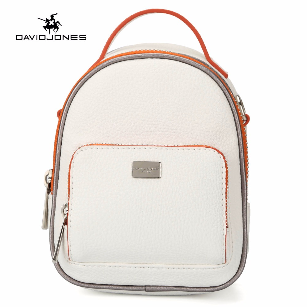 DAVIDJONES Shoulder Bags Women Backpack Bag Fashion School Bags For Girls Top-handle Bac ...