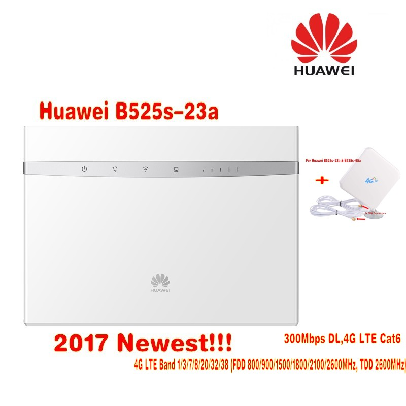US $232 2 10% OFF|300M Unlocked Huawei B525 4G LTE WLAN Router 35dBi 3G/4G  LTE Long Range Signal Booster Antenna-in Modem-Router Combos from Computer