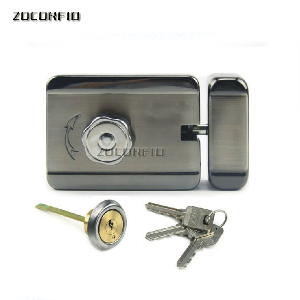 DIY Stainless steel quiet access Electric lock /ally controlled lock DC-12V Guard  sc 1 st  AliExpress & KT DJ100 DC 12V Intelligent lock /access control silent electric ...