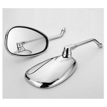 2PCS Rear View Mirrors Chrome For Honda Magna Rebel Shadow VT750 VT1100 400