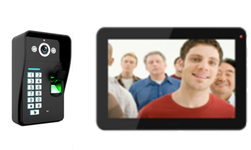 9 Inch 700TVL Touch Screen ID Card/Password/Finger-Print Wired Video Door Phone 906MJIDS