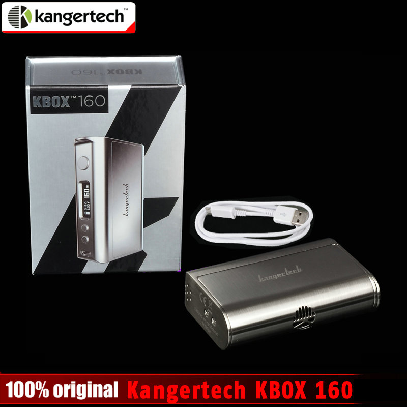 100 Original Kangertech KBOX 160 Kanger 160W TC VV VW Supports Ni Ti SS NiCr Powered