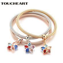 Toucheart новый дизайн браслет с 3 цветами очаровательный и