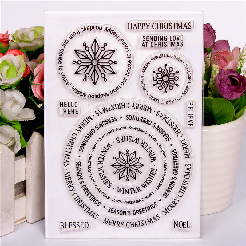 Rubber Silicone Clear Stamps for Scrapbooking Tampons Transparents Seal Background Stamp Card Making Diy Circle circle