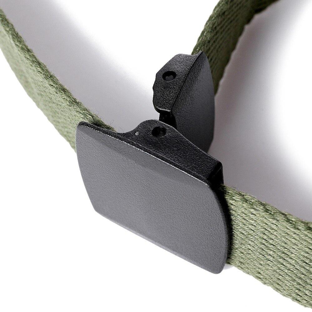 Unisex Canvas Belt 3.8cm Width Adjustable Tactical Waist Belt Outdoor Sports Cotton Military Belt Men Women Plastic Buckle Belts