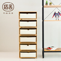 ZEN'S BAMBOO Chest of Drawer Small Storage Bedsiede Cabinet DIY Combine freely Living room/Bedroom/Study/Office furniture