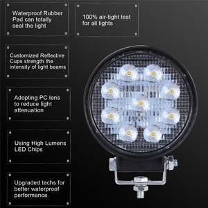 Image 3 - 2x LED מנורות עבור מכוניות LED עבודה אור תרמילים 4 אינץ 90W עגול ספוט Beam Offroad נהיגה אור בר luces Led Para אוטומטי