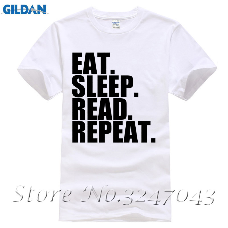 Eat. Sleep. Read. Repeat. Novels Mens T-Shirt Fashion T Shirt Brand