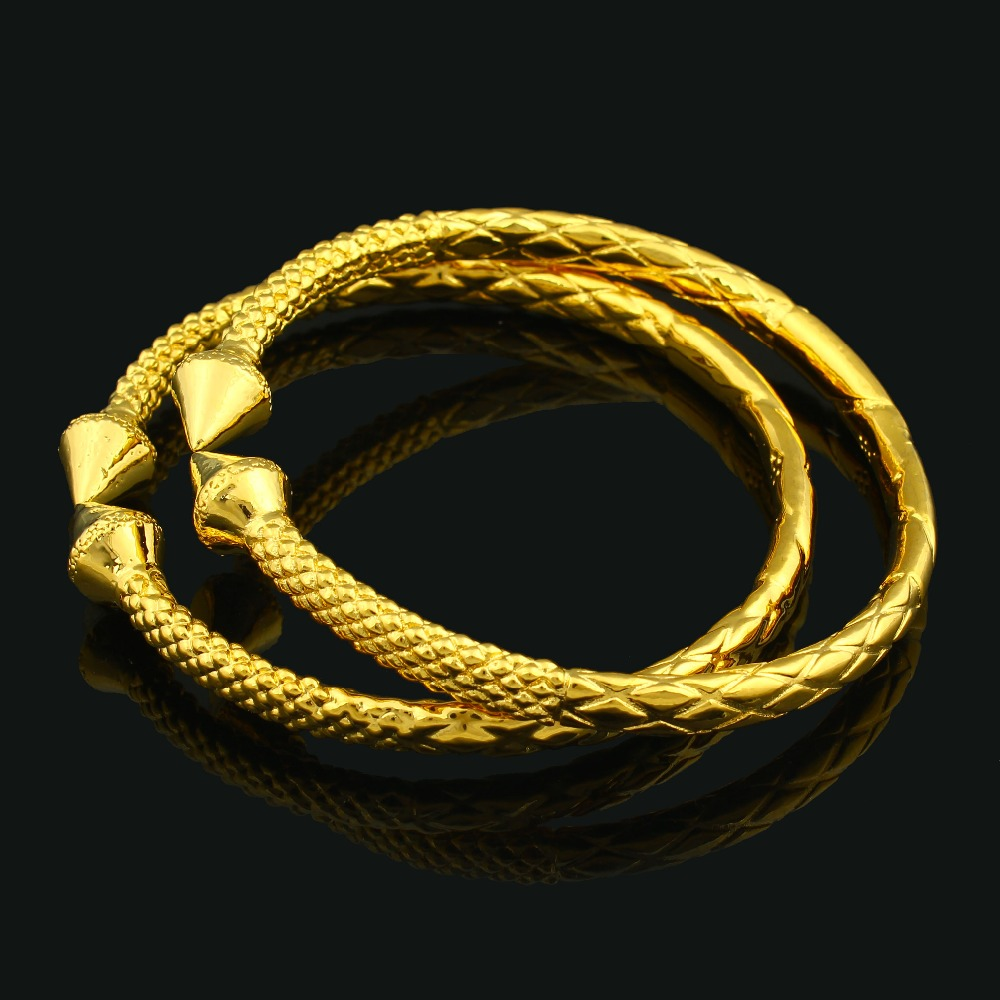 2230cbef10f9 2016 Etiopía africana de oro unisex brazalete de tamaño ajustable brazalete  de oro color joyería para hombres mujeres