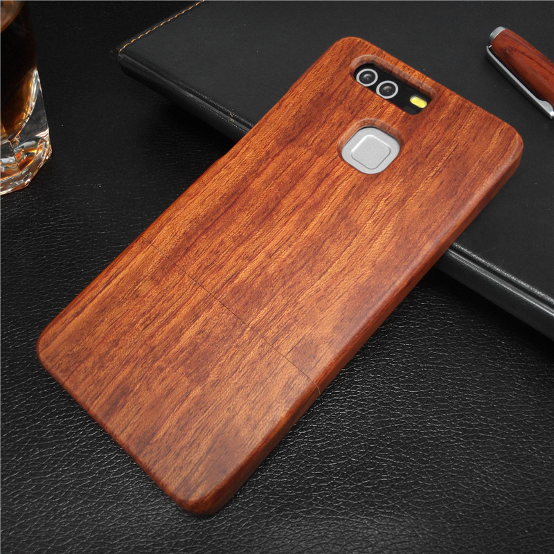 For Huawei P9 wood case 100% Original Real Wood Wooden Pattern Hard Phone Case Back Cover Fundas For Huawei Ascend P9 Case Coque