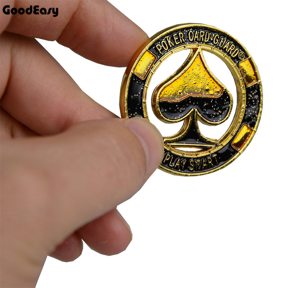 WR Poker Cards Guard Metal Casino Token Coin Hand Protector King Of Poker