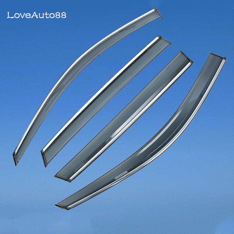 4Pcs Car Window Visor Door Rain Sun Shield Side Windows Cover Trim Auto Accessories For Toyota Camry 2006 2017 Car Styling in Awnings Shelters from Automobiles Motorcycles