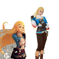 Zelda botw Cosplay The Legend of Zelda Breath of the Wild Princess Zelda Cosplay Costume