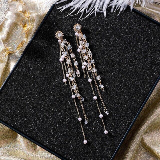 Фото винтажные многослойные длинные очаровательные жемчужные бриллианты