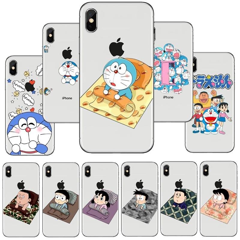 seracase Fashion Cute Doraemon Soft TPU Silicone Case Cover For Apple iPhone X 10 8 7 6 6S Plus 8Plus 7Plus 5 5S SE