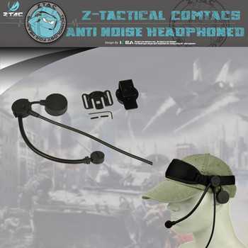 Z-Tactical Z043 Military Airsoft Headset Adjustable Durable Outdoor Hunting Communication Headphone without PTT Adapter