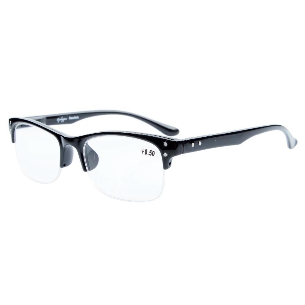 Eyekepper qualità molla Cerniere Half-Rim occhiali da lettura Black +1.0 JeBAtydua