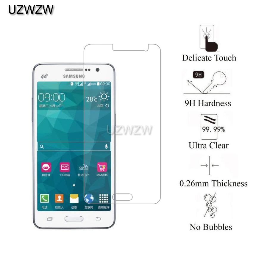 Image 2 - 2pcs  Tempered Glass For Samsung Galaxy Grand Prime G530 G530F G530FZ G530Y G530H G530W Screen Protector Film Glass For G530-in Phone Screen Protectors from Cellphones & Telecommunications
