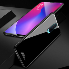 Tempered Glass Case for OPPO R17 Pro C Hard Back Cover Soft Silicone Bumper For R17Pro