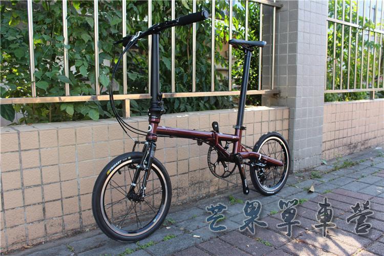 "HTB1M2eHXLvsK1Rjy0Fiq6zwtXXaO Fnhon CR-MO Steel Folding Bike 16"" Minivelo Mini velo 9 Speed Bike  Bicycle overall bike V Brake"
