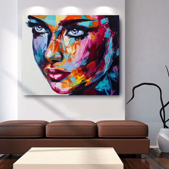 Large Size Fantasy Face Hd Print Canvas Oil Paintings Modern Wall Art Posters Pictures