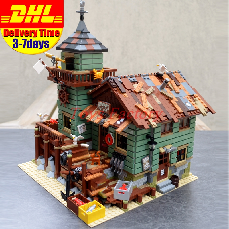 In Stock Lepin 16050 2109Pcs MOC The Old Finishing Store Set Children Educational Building Blocks Bricks Toys Model Clone 21310 the little old lady in saint tropez