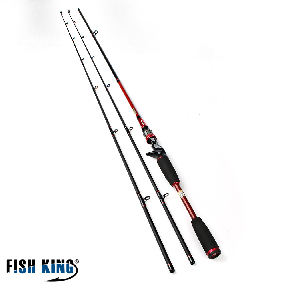 FISH KING Carbon 2.1M Two Segments Section C.W. M ML Lure Weight 7-25g Line Weight 5-25LB Bait Casting Hard Spinning Lure Rod seaknight trulinoya 2 1m 145g two segments plug bait carbon casting hard spinning lure fishing rod