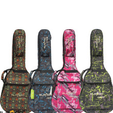 Colorful personalized porttable durable manwomen waterproof wood acoustic guitar bag 41 inch soft gig case backpack padded cover
