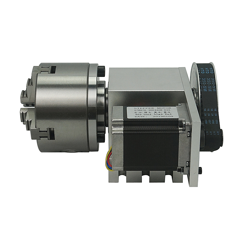 3 4 Jaw Chuck Hollow Shaft 100mm CNC 4th Rotary Axis Suitable PCB Milling Drilling Machine