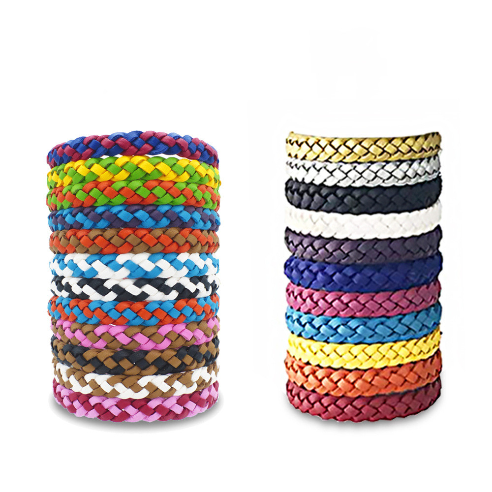 5pcs Anti Mosquito Repellent Bracelet Wristband Natural Insect Protection Pest Rejector Reject Control Bands Elderly Adults Kids