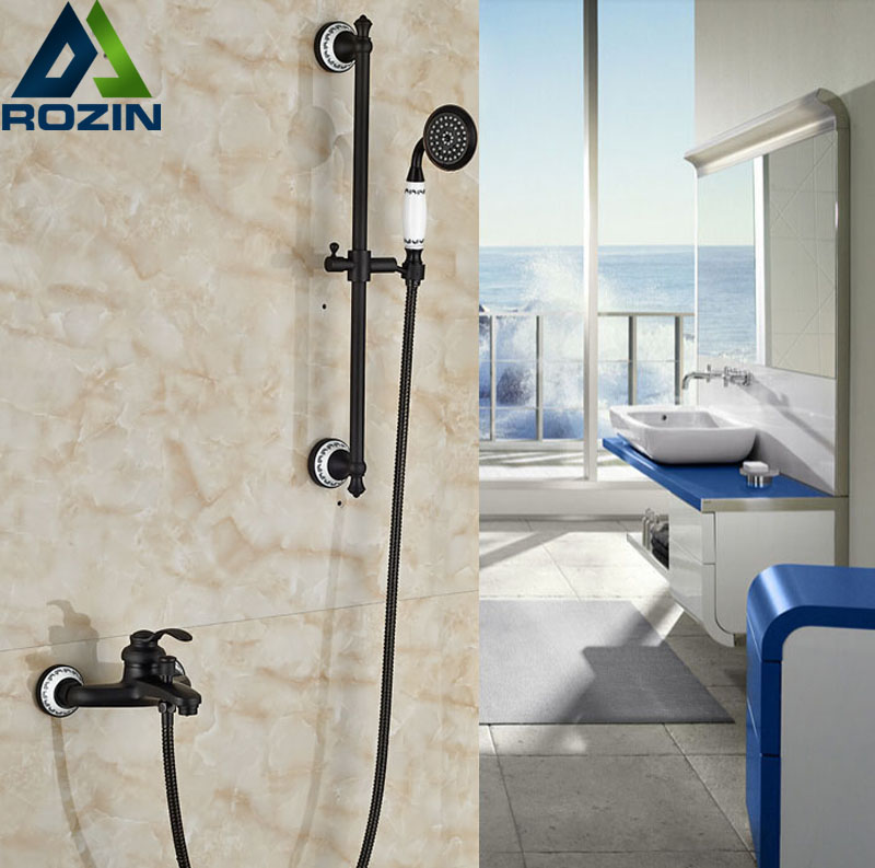 Здесь продается  Single Handle Wall Mount Shower Set Mixer Tap Brass Handheld Tub Shower Faucet with Sliding Bar  Строительство и Недвижимость