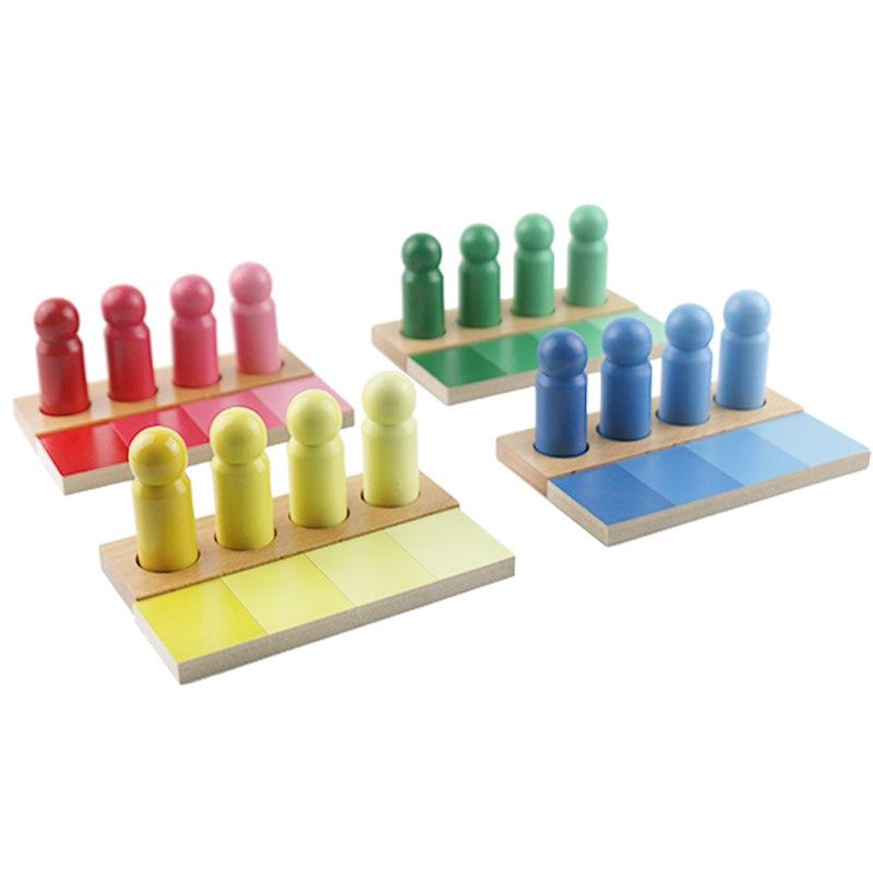 En bois Montessori SensoryToys Montessori couleur correspondant éducatif bébé apprentissage jouets pour enfants Juguetes Montessori ME1664H