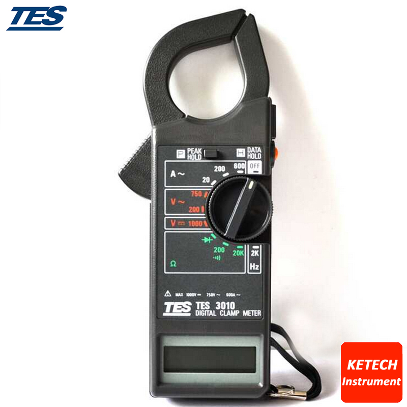 ACA 20A 200A 600A Power Prof. Clamp Meter TES3010 prof clamp meter ac a 20a 200a 600a tes3010