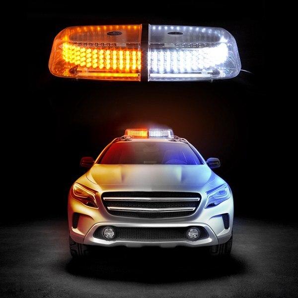 Vehicle Roof Top Emergency Hazard Warning Strobe Light Lamp 240 LED White Amber