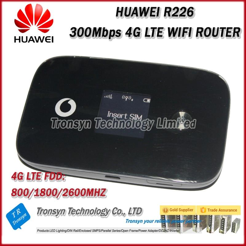 Wholesale Original Unlock Vodafone R226 300Mbps Cat6 Pocket 4G LTE Car WiFi Router Support LTE FDD vodafone k5005 4g lte surfstick