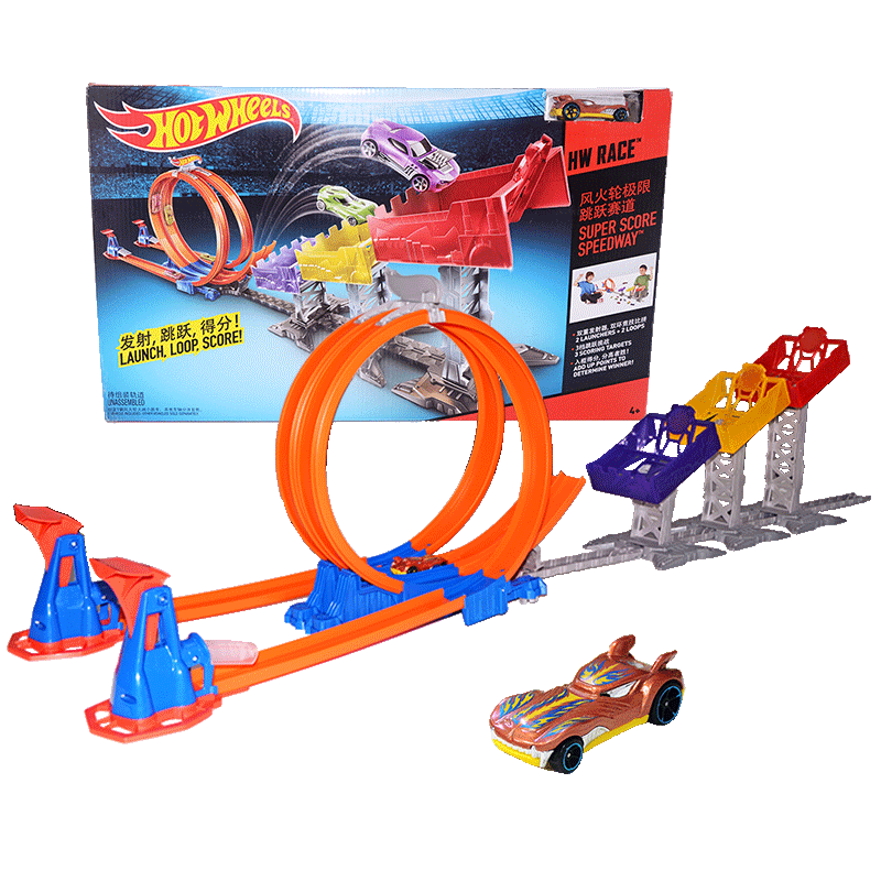 Hot Wheels Limit Jump Track Toy Kids Electric Toys Square City Miniature Car Model Classic Antique