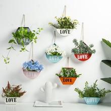 Висячие, геометрической формы цветка держатель горшков сад сочные украшения из растений