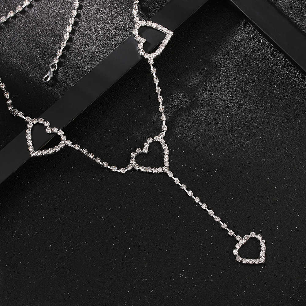 2020 Hart Tot Hart Riemen Trendy Nieuwe 90 S Vintage Flash Boor Hart Taille Chain Leuke Bling Bling Night Club disco Riem Strass
