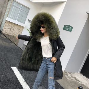 Image 2 - women real racoon dog fur coat