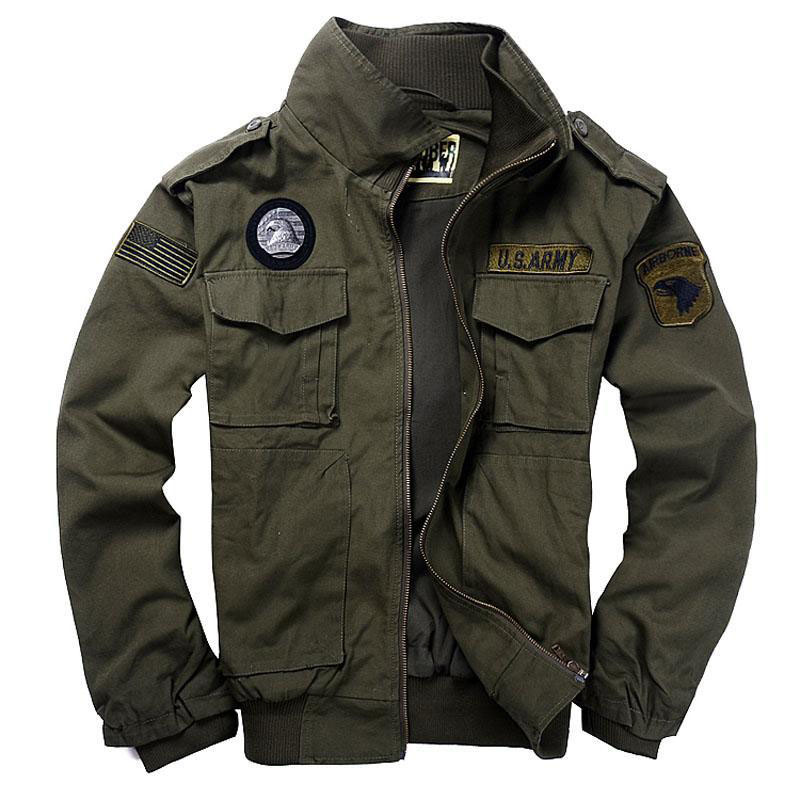 Brand Men's 101 Flight Jackets Military Uniform Autumn Winter Multi pocketed Thick Male Casual Jacket Coat Men parkas 3XL CF1620-in Jackets from Men's Clothing    1