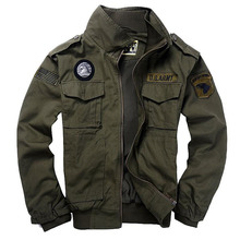 qiqichen 101 Flight Jackets Military Uniform Autumn Winter Multi-pocketed Thick Male