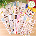 Korea Stationery Cute Animal Cartoon Diy Decoration Scrapbooking Stickers Plan Stickers Papeleria Escritorio